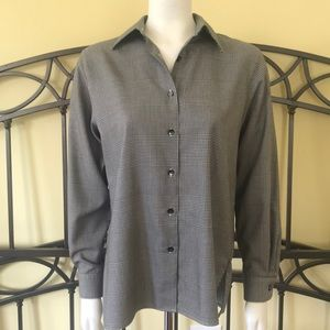 755faf2ab69 Foxcroft Tops - Foxcroft Houndstooth Button Down Long Sleeve Top